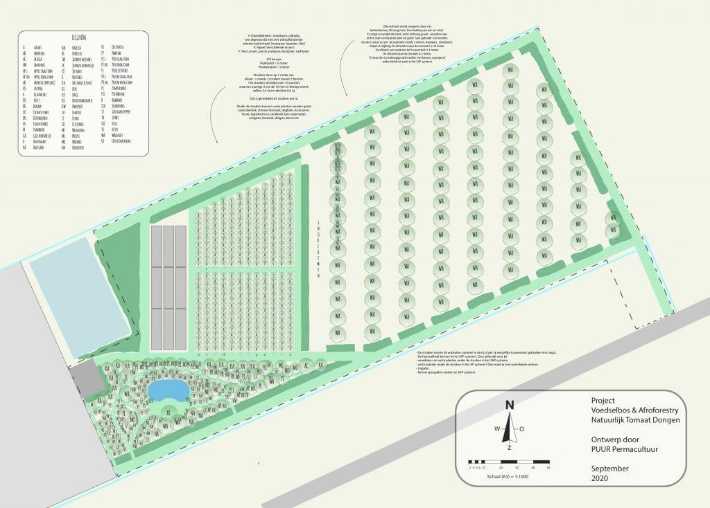 agroforestry ontwerp puur permacultuur